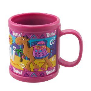 DD-00-1512-PVC Mug Camel Pink Al Jaber Attractive