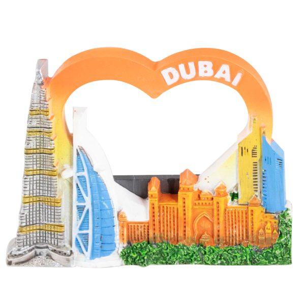 Fridge Magnet orange ceramic h5.5cm x l7.5cm x w1cm Al Jaber Gifts