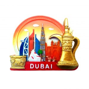 Magnet golden red ceramic h6cm x l7cm x w1cm Al Jaber Gifts